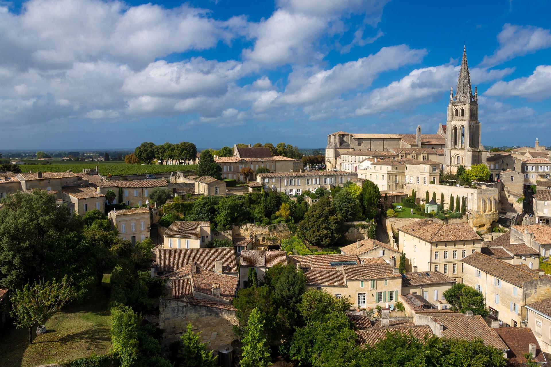 Saint-Émilion vlak bij Bordeaux