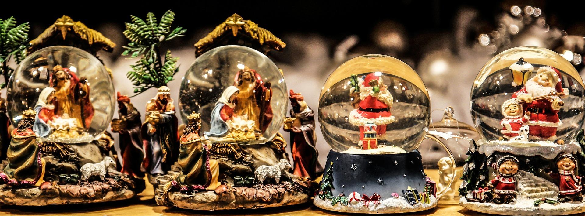 Kerst in Nederland sneeuwbollen