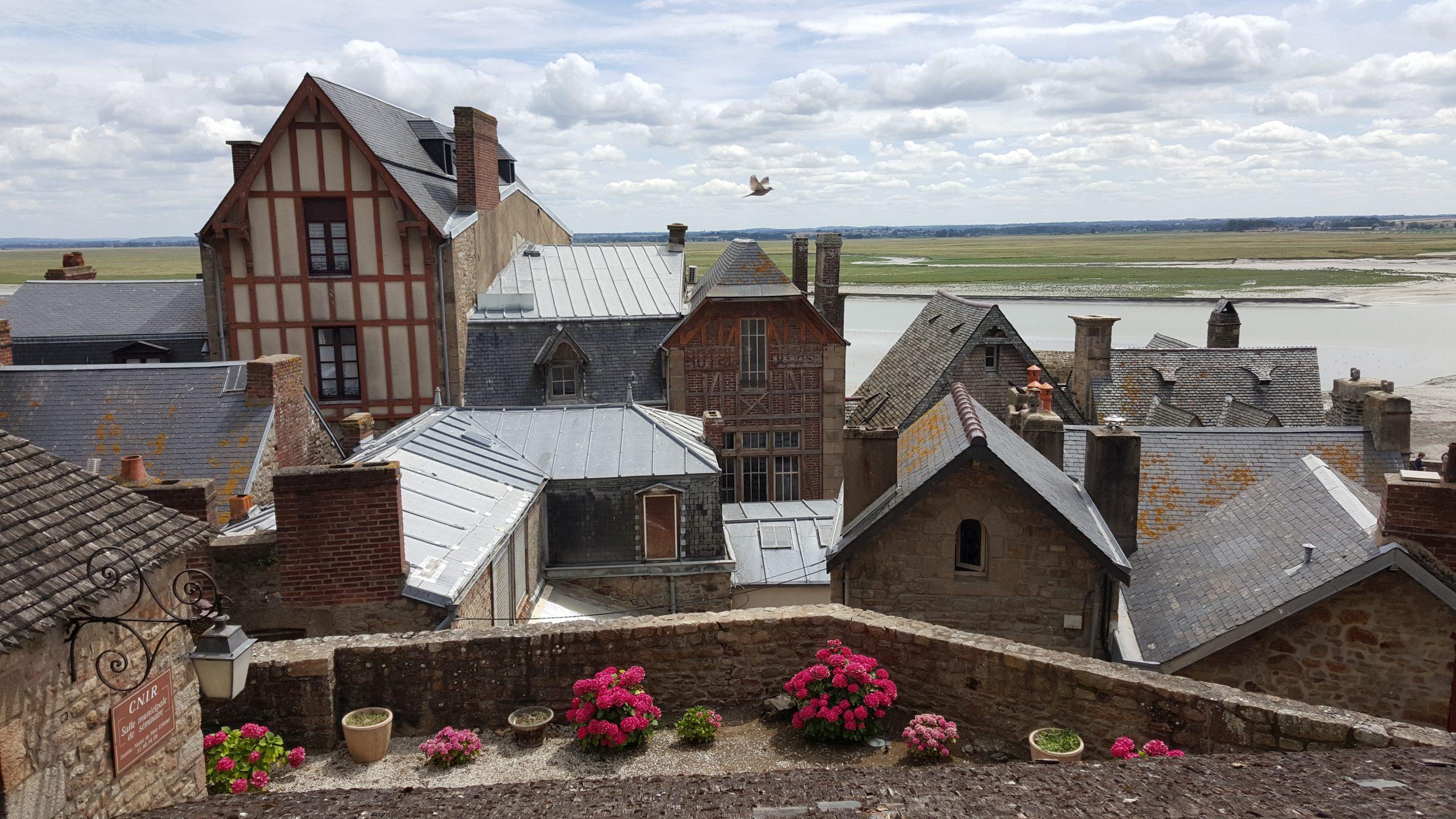 Middeleeuws dorp bij abdij