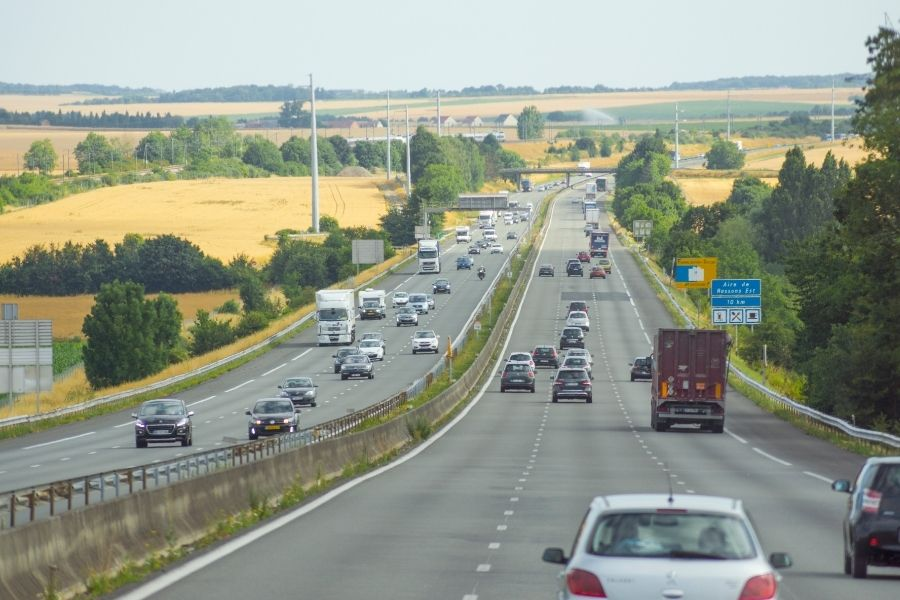 Snelweg Frankrijk reizen met de auto
